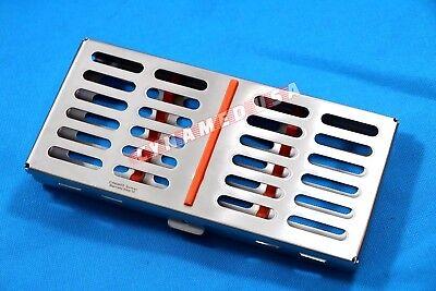 German Dental Autoclave Sterilization Cassette Rack Box Tray For 7 Instrument