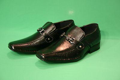BRAND NEW BOYS' FASHION DRESS FORMAL  SLIP ON BLACK KIDS SIZE 10 11 12 3  - Dress Shoes Boys