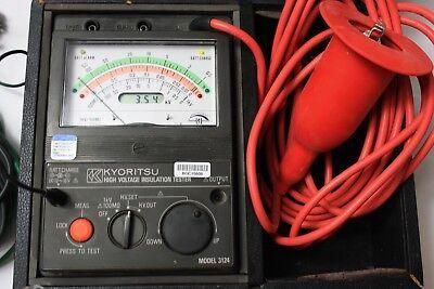 Kyoritsu Megger 3124 Battery Powered High Voltage Insulation Tester
