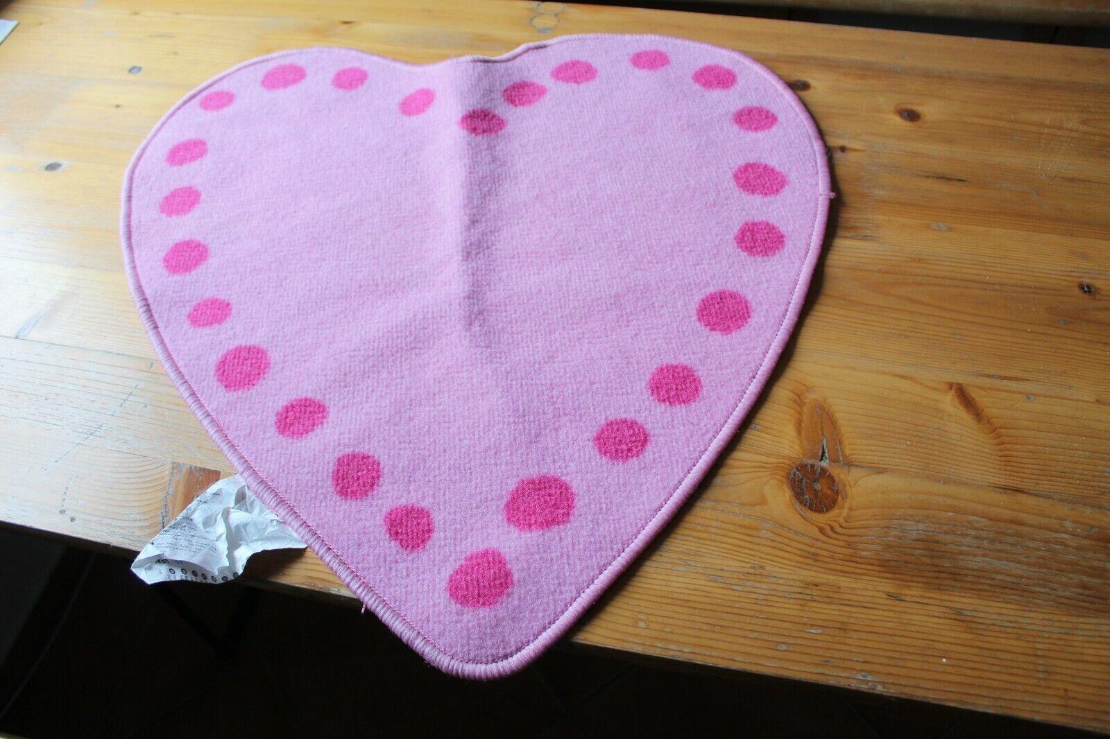 Ikea Kinderteppich Herz Rosa/Pink Vitaminer Hjärta Größe 67x64