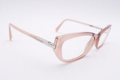 Prada VPR 03N Rx Eyeglasses FRAMES AB4-101 Tan 55[]17-135 Italy Cat Eye (Tan Eyeglasses)