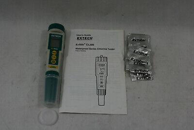 New - Extech Exstik Cl200 Waterproof Chlorine Meter Tester Kit