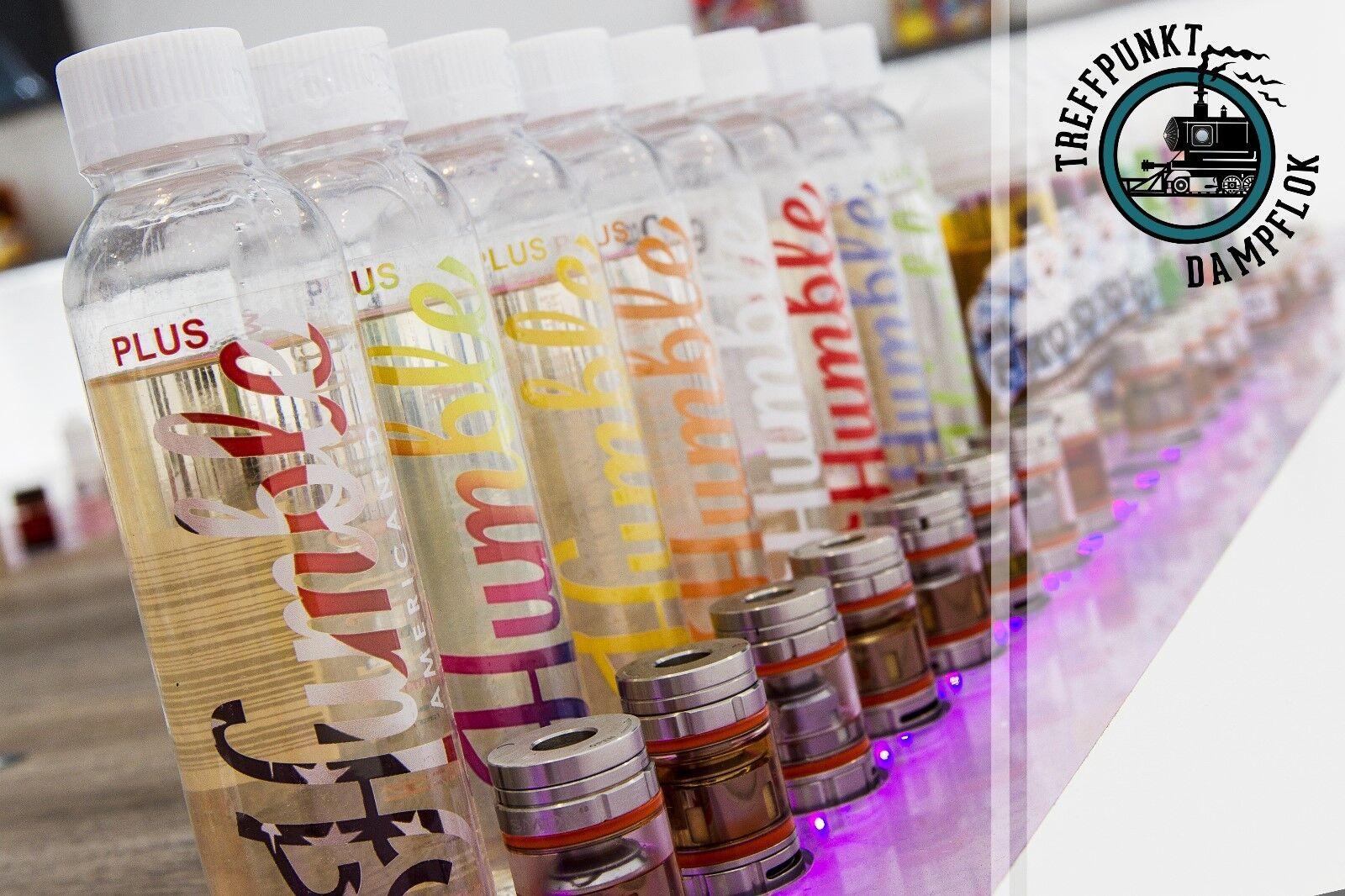 Humble Juice Plus Premium E-Liquid 100ml mit und ohne Nikotinshots alle sorten