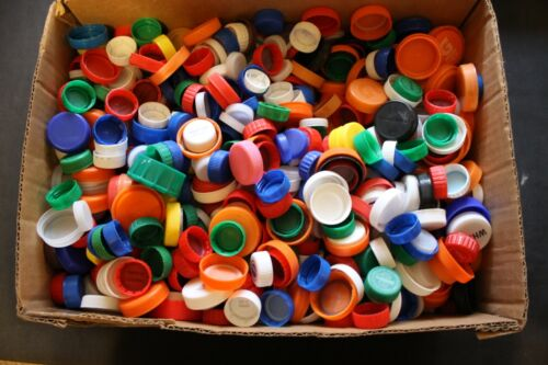 Lot 1500+ Plastic Bottle Caps Lids Tops Craft Mixed Repurpose Mixed Soda Water+