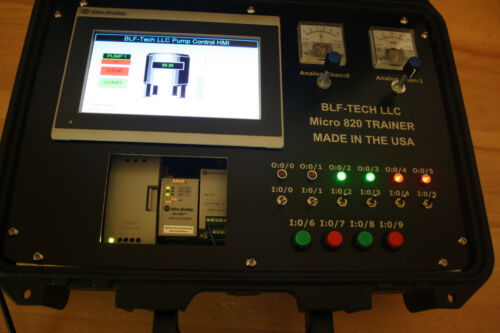 Allen Bradley Micro820 Analog PLC Trainer with 2711R-T7T HMI and CCW Version 11