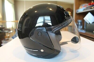 Harley-Davidson Full Size M Motorcycle Helmet with Wired Headset Installed & Bag