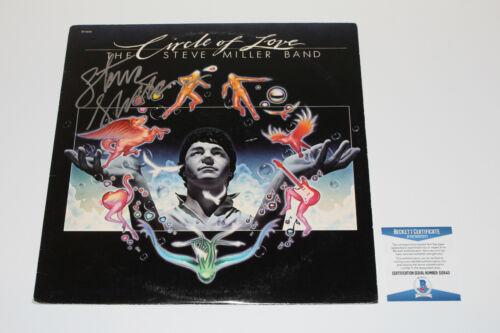 STEVE MILLER SIGNED CIRCLE OF LOVE VINYL RECORD ALBUM LP PROOF THE BAND COA BAS
