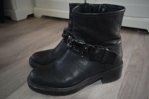 ❤ Kennel & Schmenger, Stiefeletten Boots Gr. 37 -  UK 4 schwarz Leder Stiefel ❤