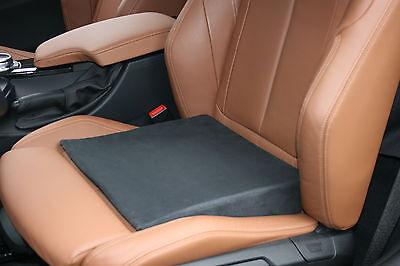 Keilkissen Sitzkissen Sitzerhöhung Premium SELECT Velour schwarz