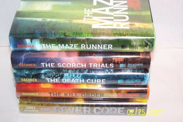 The Maze Runner, Five Volume Set 3 VOLS SIGNED USA hardcovers W/jackets 2 movies