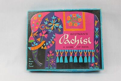 Vintage Whitman's Pachisi A Game of India Travel Board Game Complete   for sale  Fort Loudon