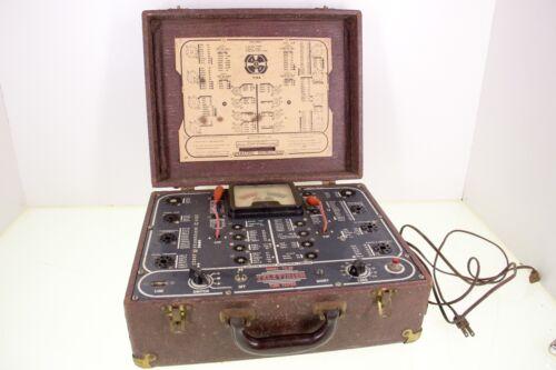 American Scientific Development Company TV-20 Tube Tester Suitcase Mobile