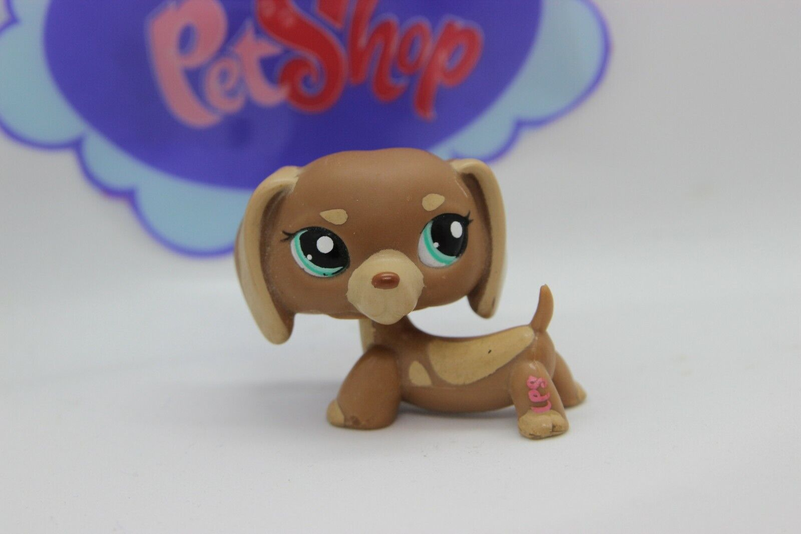 Authentic littlest pet shop lps #1751 cocoa brown dachshund teckel puppy dog