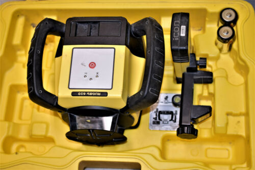 Leica Rugby 610 Rotary Laser Level With Rod Eye 140 & Hard Carrying Case