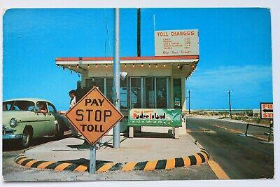 Postcard ENTRANCE TO PADRE ISLAND CAUSEWAY NEAR CORPUS CHRISTI, (Padre Island Corpus Christi)