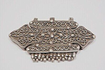 Tibetan Gau Box Pendant (Antique/Vintage Tibetan Silver Filigree Gau Prayer Box Pendant )