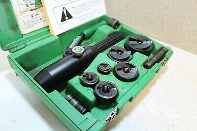 Greenlee 7906sb7904sb Quick Draw Hydraulic Punch Slugbuster Set 100 Tested