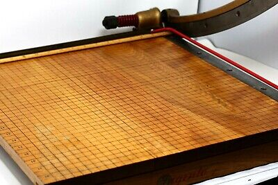 Solid Wood Vintage Ingento 18 X 19 Paper Cutter Excellent Condition Wow