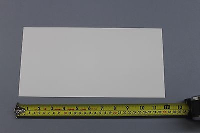 .030 Thick Snow White Polypropylene Plastic Sheet 6 X 6 Light Diffusing