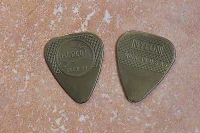 Nikki Sixx Owned & Used Motley Crue Bass Guitar Gold Herco Pick Final Tour LA
