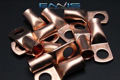2 Gauge Copper 38 Ring 5 Pk Crimp Terminal Connector Awg Ga Car Eye Cur238