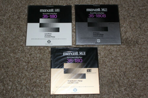 Maxell Reel To Reel Tapes: UD, XLI, XLII NOS
