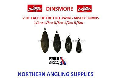 10 x Dinsmores 3//4 oz Arlesey Fishing Bombs