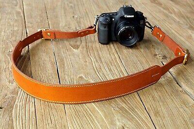 Personalized Brown quick release dslr camera straps , canon nikon camera straps
