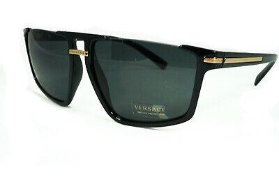 Versace Men's VE4363 VE/4363 Black/Grey Lens GB1/87 Pilot Sunglasses Authentic