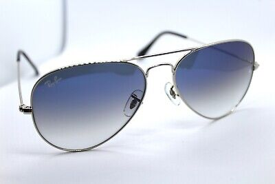 Ray-Ban RB3025 003/3F Silver Aviator Men Sunglasses - Gradient Light (Aviator Blue Gradient)