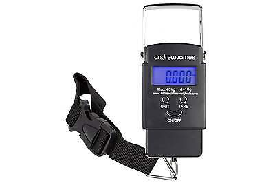 Andrew James Digital Travel Luggage Scales 40KG Holiday Travel Suitcase Weighing