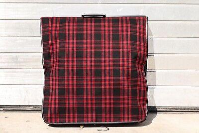 Alter Kleidersack Leinen rot kariert Reise Tasche gute Qualität Vintage 60er