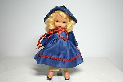 Nancy Ann Storybook Doll Little Betty Blue #109 Pudgy Tummy Mother Goose