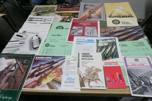 24 Vintage gun Catalogs and dealer papers Sako, AYA, Tikka.  H&R, Parker-Hale