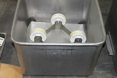 Stainless Steel Koch Tote Tank On Casters 25 By 25 By 20