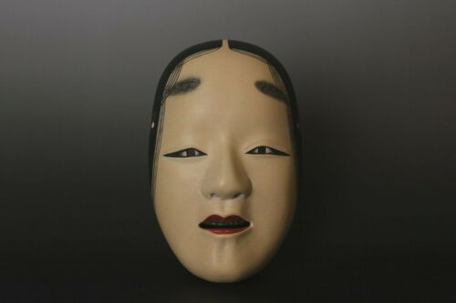 Japanese signed   Noh Mask depicting Zou-onna character  AA36