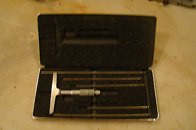 Lufkin No. 514 Depth Micrometer Set Wcase