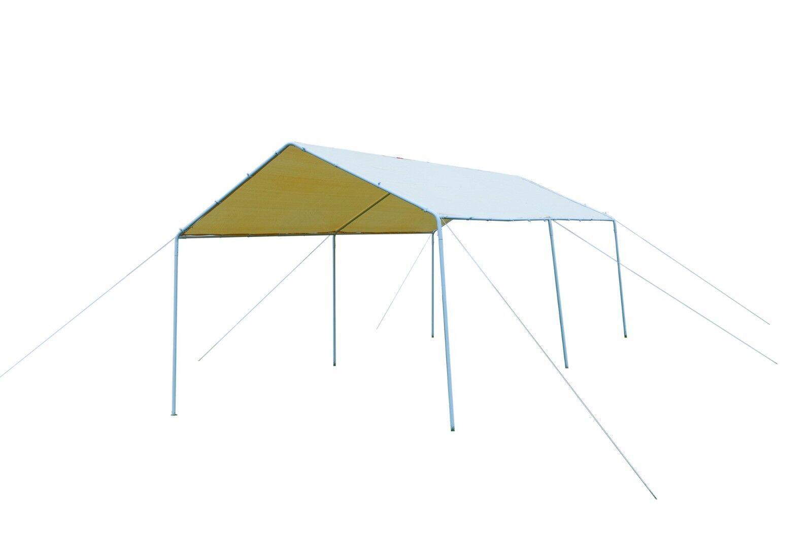 10x20 Carport Heavy Duty Metal Outdoor Canopy Garage Shelter