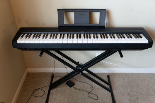 Yamaha P71 88-Key Digital Piano - Black and Stand