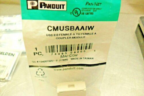 Panduit CMUSBAAIW Female A Coupler  Factory sealed bag