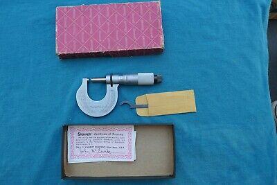 Vintage Starrett 238rl Outside Micrometer Ratchet Stop Lock Nut 0-1 Range Wbox