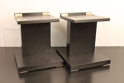 Two New Solid Oak Handmade Large Audio Speaker Stands 13 Inches -
