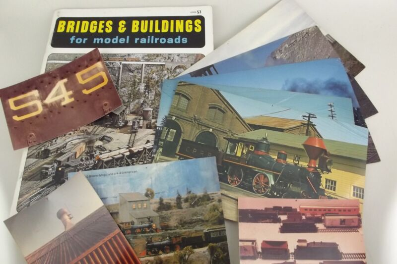 Lot Railroad Photos Vanishing Vistas Postcards Model Train Bridge Building Book