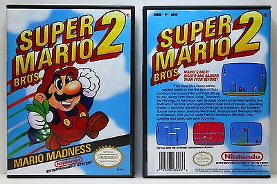 Super Mario Bros. 2 - Nintendo NES Custom Case - *NO GAME*