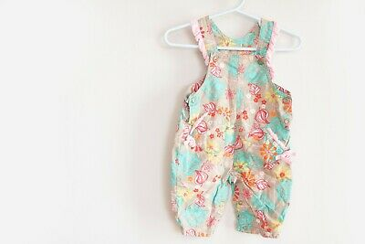Cakewalk Baby Overalls Girls Flower Floral Cakewalk Baby Clothes 3 Months EUC (Cakewalk Clothing)