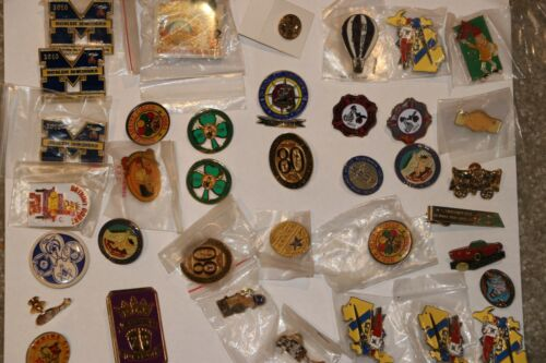 Lot of 37 Fraternal Shriners Freemasons Masonic Lodge Hat - Lapel Pins