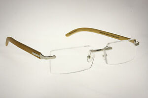 NEW DESIGNER BAMBOO READING GLASSES 1.50