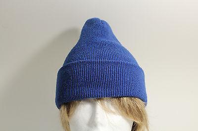 Royal Blue Skull Cap Beanie Winter Snow Ski Knit Hat -