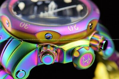 New Invicta Mens 52mm Reserve Venom Swiss Chrono Iridescent 1k Diver MOP Watch
