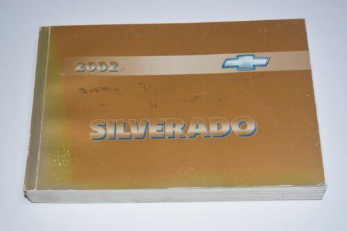 2002 CHEVROLET SILVERADO OWNERS MANUAL GUIDE BOOK OEM